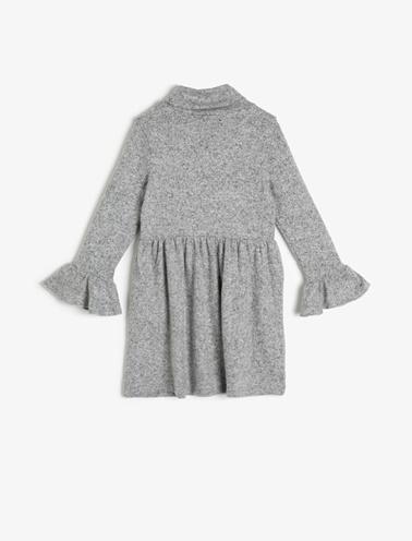 Koton Kids Baskılı Elbise Gri